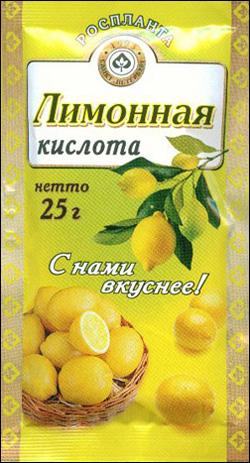 Лимонная кислота, банка ПЭТ, 850 г